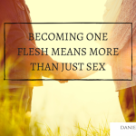 BECOMING ONE FLESH MEANS MORE THAN JUST SEX